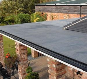 EPDM rubber flat roof
